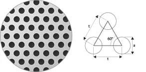 Otwory cylindryczne układ 60°