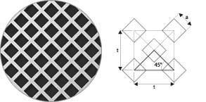 Otwory kwadratowe układ 45°